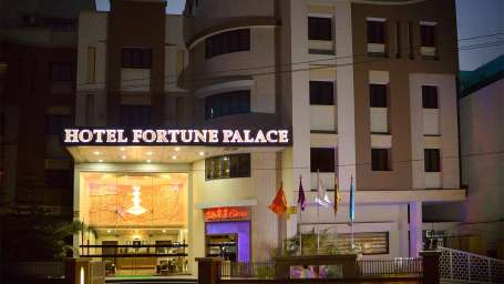 Facade of Hotel Fortune Palace, Hotel in Jamnagar, 4-Star Hotel in Jamnagar 1