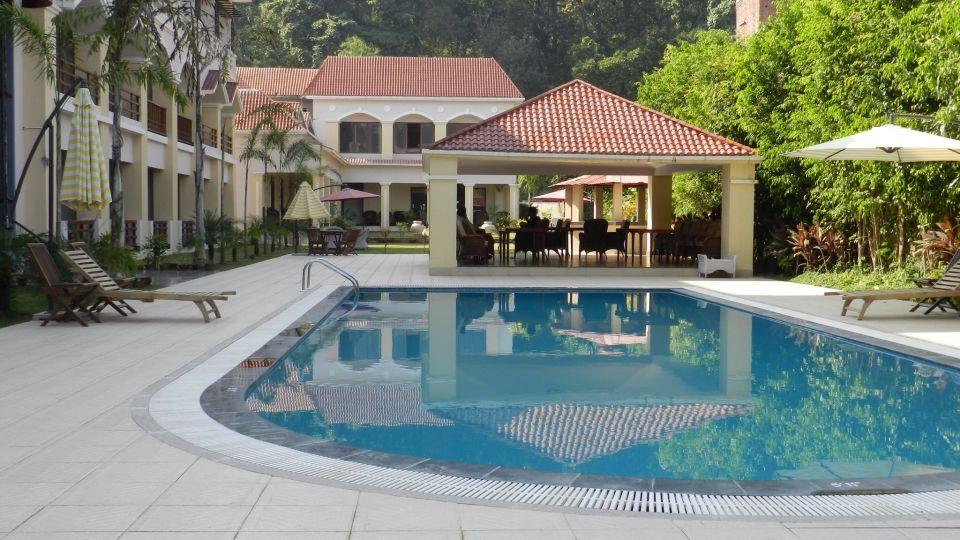 Swimming Pool at Le Roi Corbett Resort and Hotel in Jim Corbett National Park