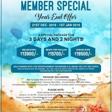 Lotus Beach Resort- Murud, Member special new year offer