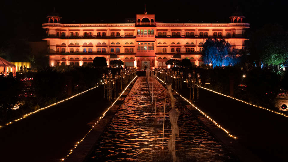 Night lighting - Umaid Lake Palace
