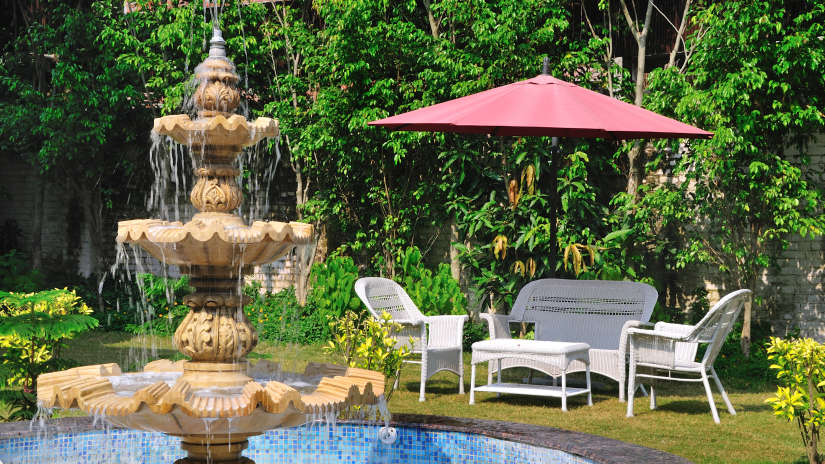 Garden at Le Roi Corbett Resort and Hotel in Jim Corbett National Park