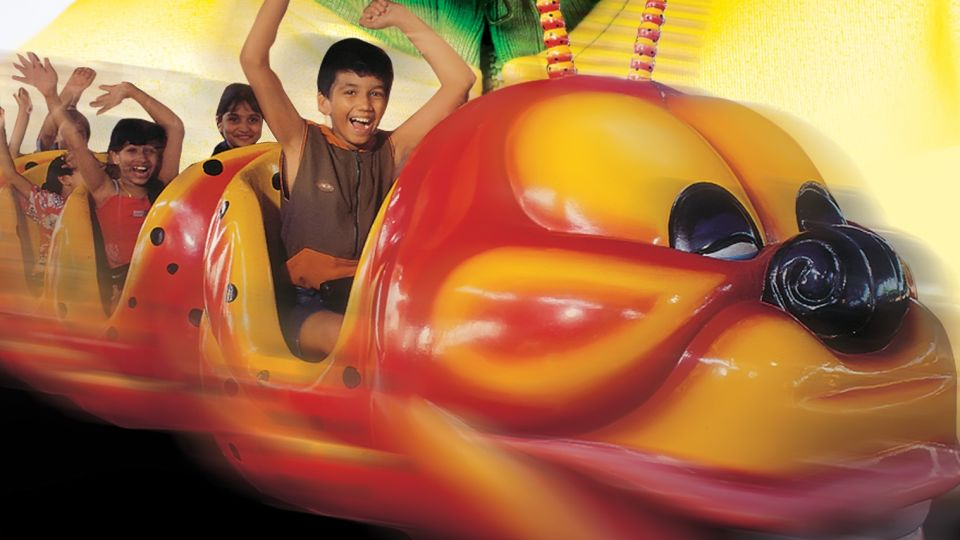 Kids Rides - Caterpillar at  Wonderla Kochi Amusement Park
