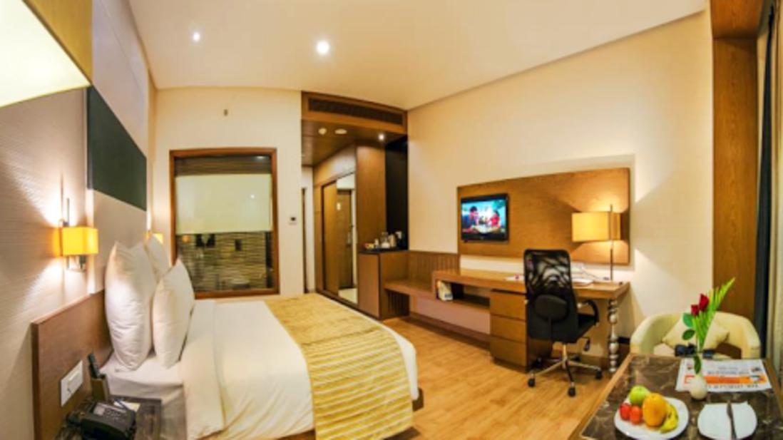 executive rooms at Narayani Heights hotel ahmedabad, hotel room in ahmedabad
