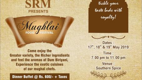 Mughal Food Festival at SRM Hotel Pv Ltd