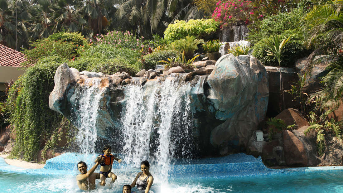 Waterfalls at The Retreat Hotel and Convention Centre Madh Island, Mumbai makes it a great weekend getaway from Mumbai