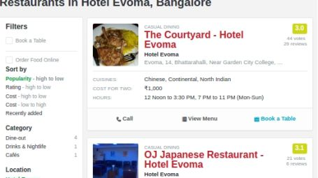 Evoma - Business Hotel, K R Puram, Bangalore Bangalore evoma-hotel-bangalore-on-zomato