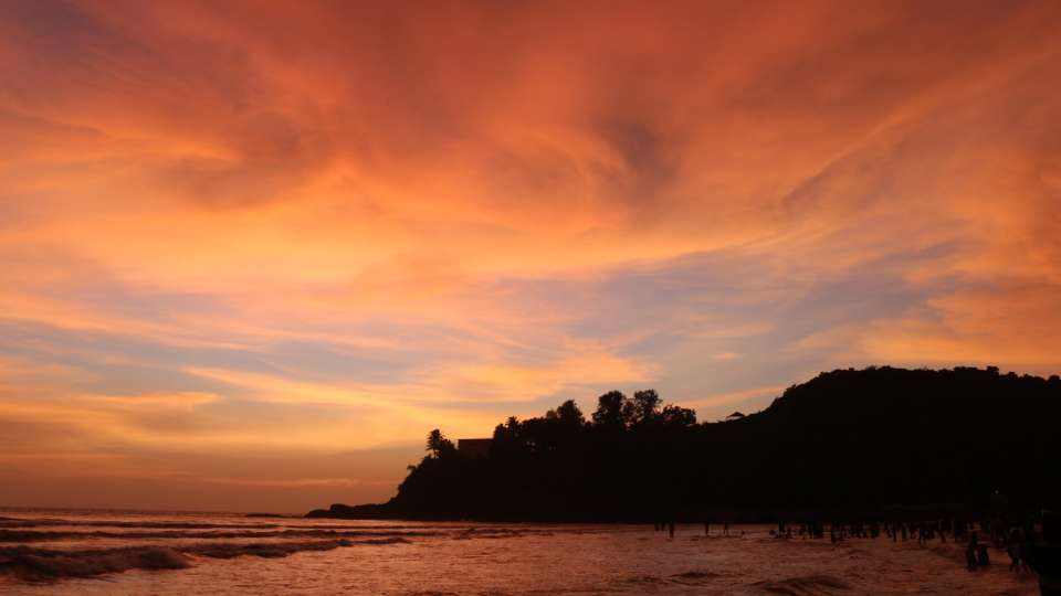 Baga beach twilight view