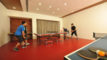 games room at Narayani Heights ahmedabad, 4 star hotel in gandhinagar