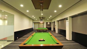 pool table, games room at Narayani Heights, ahmedabad luxury hotel