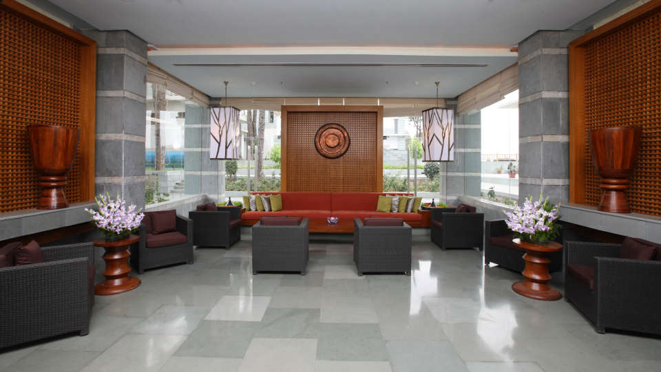 Moksha Himalaya Spa Resort, Chandigarh Chandigarh Reception Lounge Moksha Himalaya Spa Resort Chandigarh 1