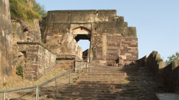 Beyond the main gate of ranthambore fort