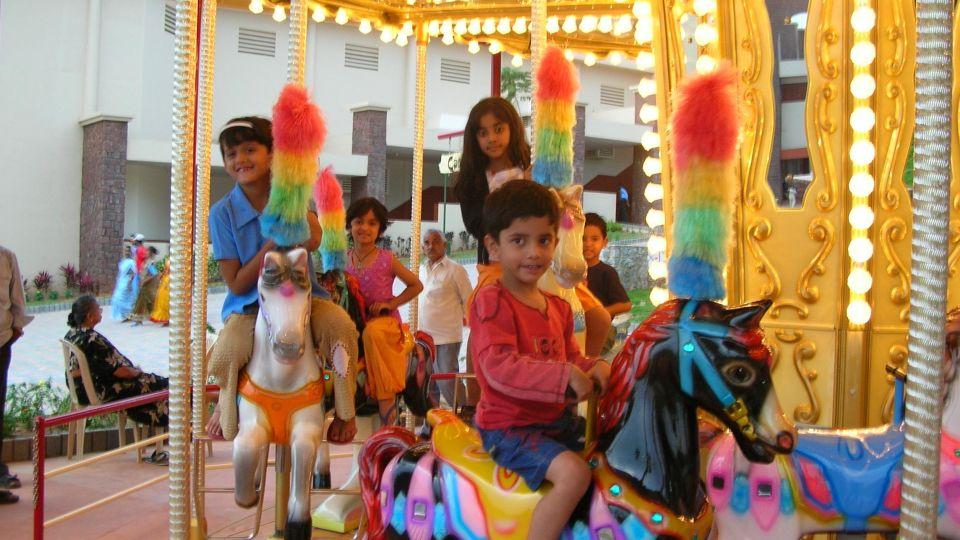 Kids Rides -  Carousel at  Wonderla Amusement Park Bangalore