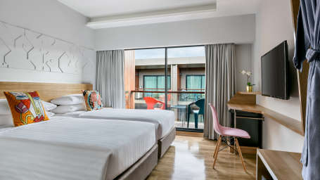 Hotel Vela Be Bangkok Ratchathewi - Vela Balcony Room Twin Bed A