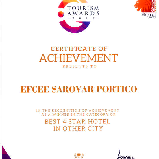 Gujarat Tourism Awards 2017 Best 4 star 1