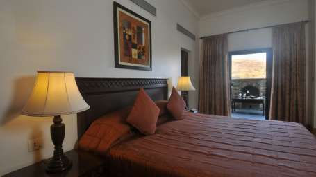 hill view dalan Room - Fort Jadhavgadh Resort in Pune near Mumbai
