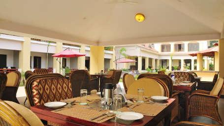 Pool Side Restaurant at Le Roi Corbett Resort and Hotel in Jim Corbett National Park