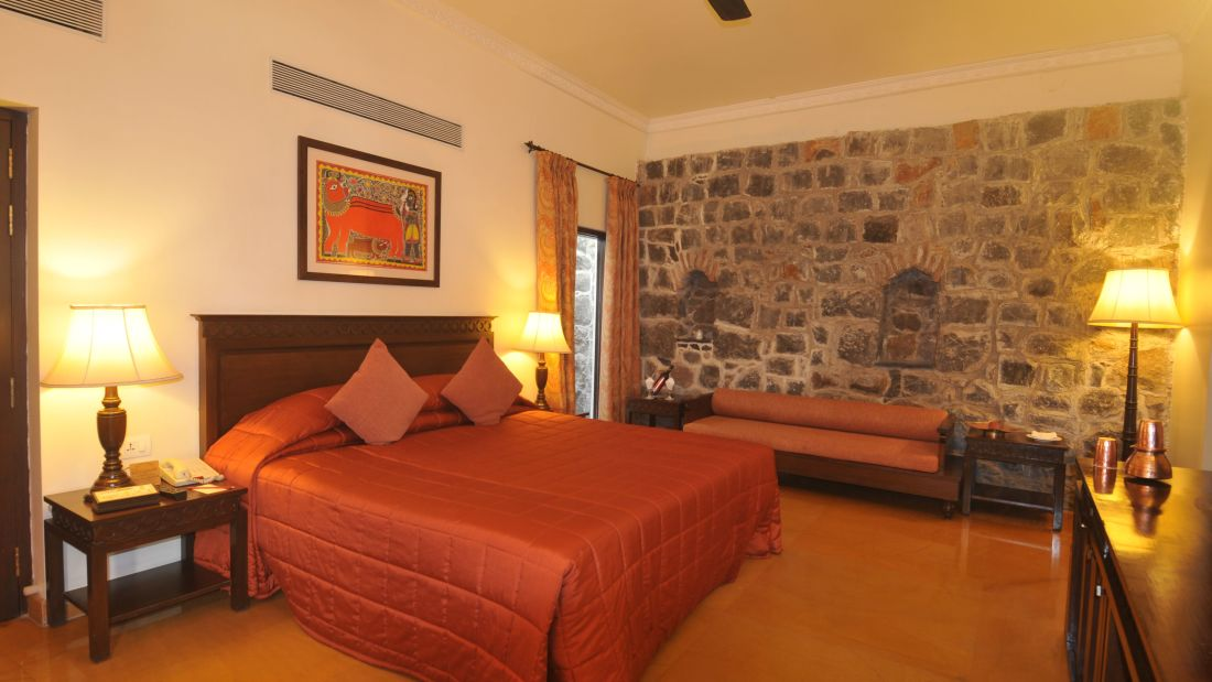 Premium Room of  Fort Jadhavgadh Heritage Resort Hotel Pune