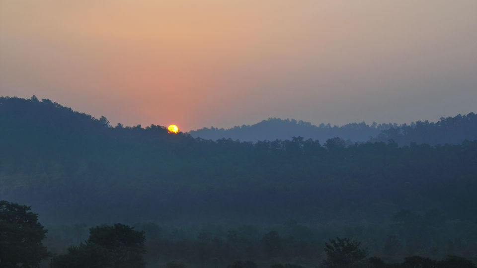 View from Le Roi Corbett Resort and Hotel in Jim Corbett National Park