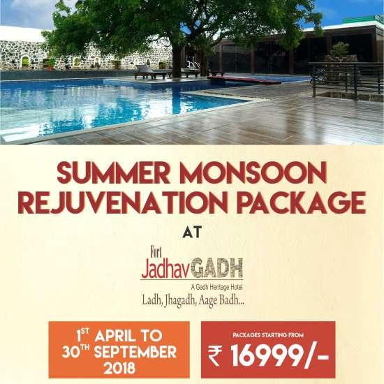 Summer Package 2018 at Fort Jadhavgadh Heritage Resort Hotel Pune