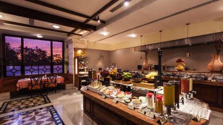 Dining at Jehan Numa Palace-Bhopal restaurants adefazd