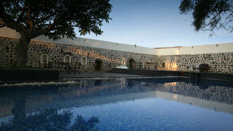 Swimming Pool at Fort JadhavGADH Heritage Resort near Pune
