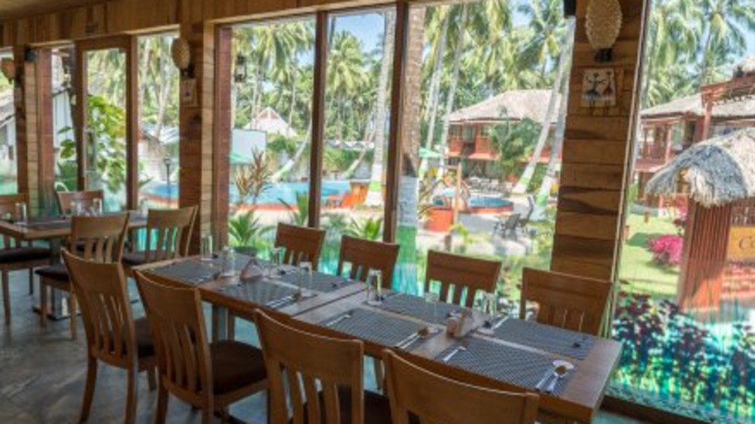 black lemon restaurant, coral reef resort, hotel in havelock 2