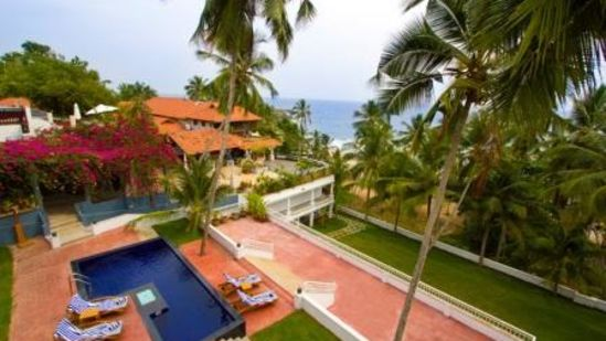 Outside view of Turtle on the Beach Annex, Beachfront hotel in Kovalam