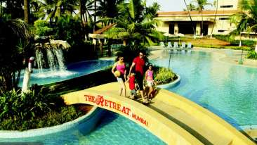 Pool at The Retreat Hotel and Convention Centre Madh Island, Mumbai makes it a great weekend getaway from Mumbai
