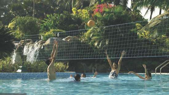 Pool Volley Ball at The Retreat Hotel and Convention Centre Madh Island, Mumbai makes it a great weekend getaway from Mumbai