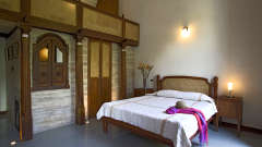 Le Dupleix - rooms have been restored using local craft and antiques a