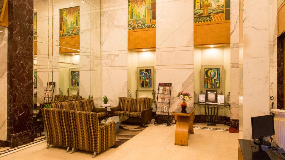 Lobby at our hotel in Ahmedabad, Ahmedabad hotel lobby, Hotel Sarovar Ahmedabad
