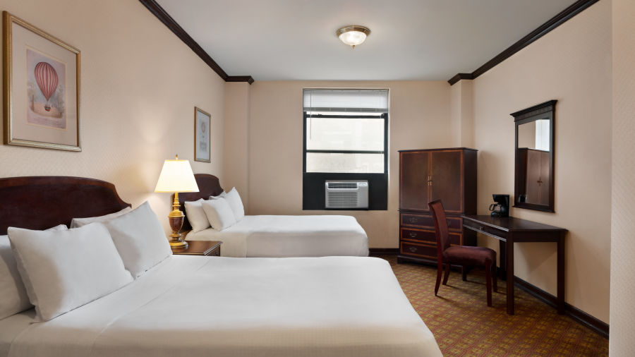 alt-text Standard 2 Double Beds are spacious accommodations at Night Hotel Broadway