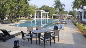 Poolside Dining at Hotel Heritage Resort Hampi