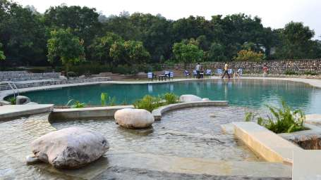 Tiger Camp Resort, Corbett Ramnagar Habitat Hotels- Poolside images 1