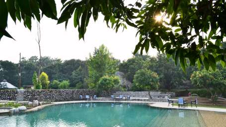 Tiger Camp Resort, Corbett Ramnagar Habitat Hotels - Poolside Images 1
