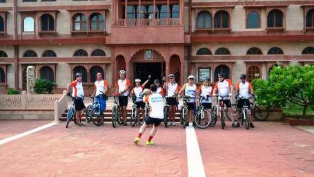 Cycle for Charity Challenge at Umaid Lake Palace Hotel Kalakho Dausa Rajasthan
