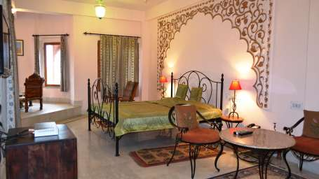 Royal Suite Room at Umaid Lake Palace Hotel Kalakho Dausa Rajasthan