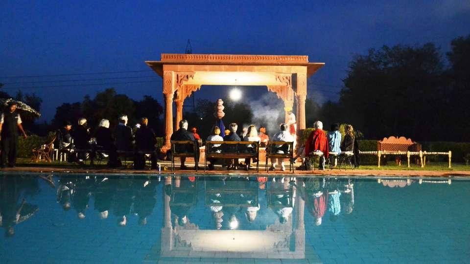 Dining and Entertainment at Umaid Lake Palace Hotel Kalakho Dausa Rajasthan
