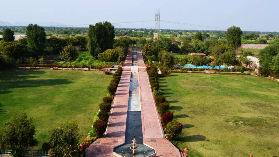 Exterior View of Umaid Lake Palace Hotel Kalakho Dausa Rajasthan