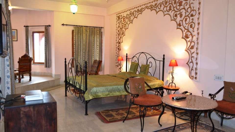 Royal Suite Room at Umaid Lake Palace Hotel Kalakho Dausa Rajasthan