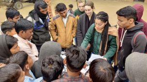 Solar Volounteer at the school projec 2