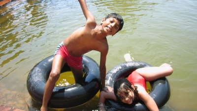 Swimming in Pond at Our Native Village - Resorts around Bangalore 52