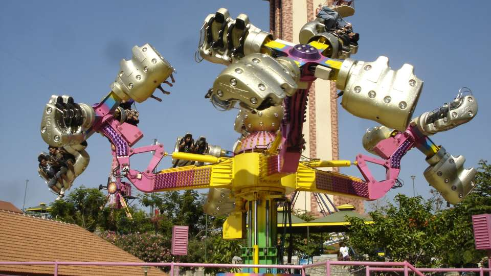 Thrillers Rides - Insanity at  Wonderla Amusement Park Bangalore