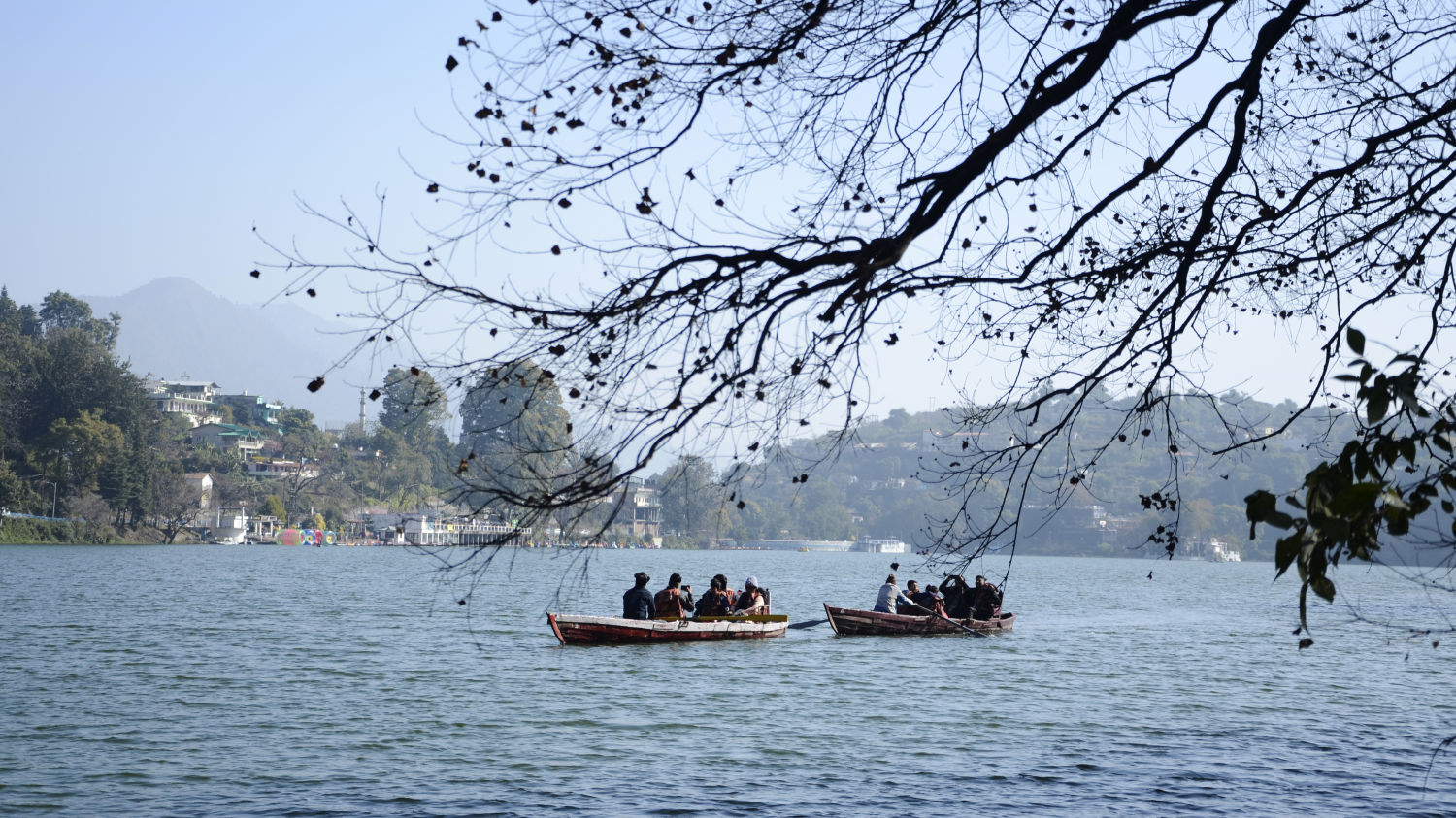 Boating in Bhimtal Lake, Resort near Bhimtal Lake, Rosefinch Sarovar Portico, Bhimtal-9