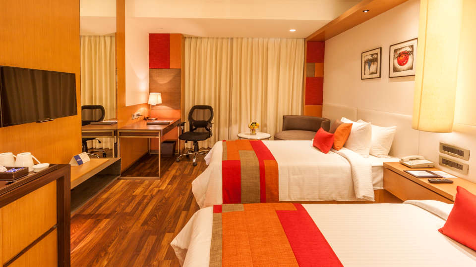 room twin The Muse Sarovar Portico Kapashera New Delhi1