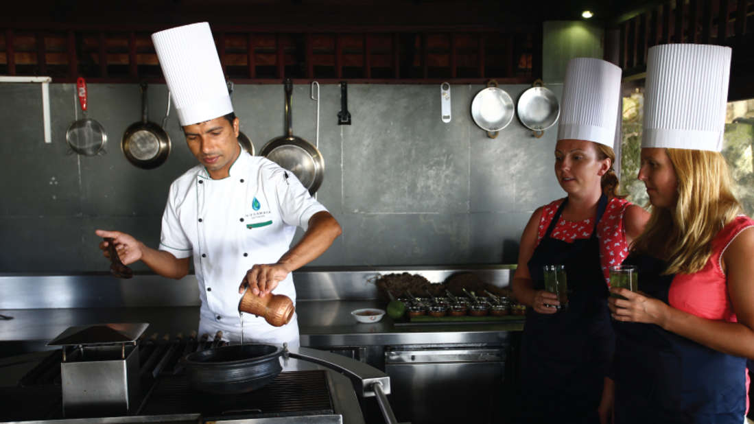 Cooking Class Niraamaya Retreats Surya Samudra Kovalam Resort