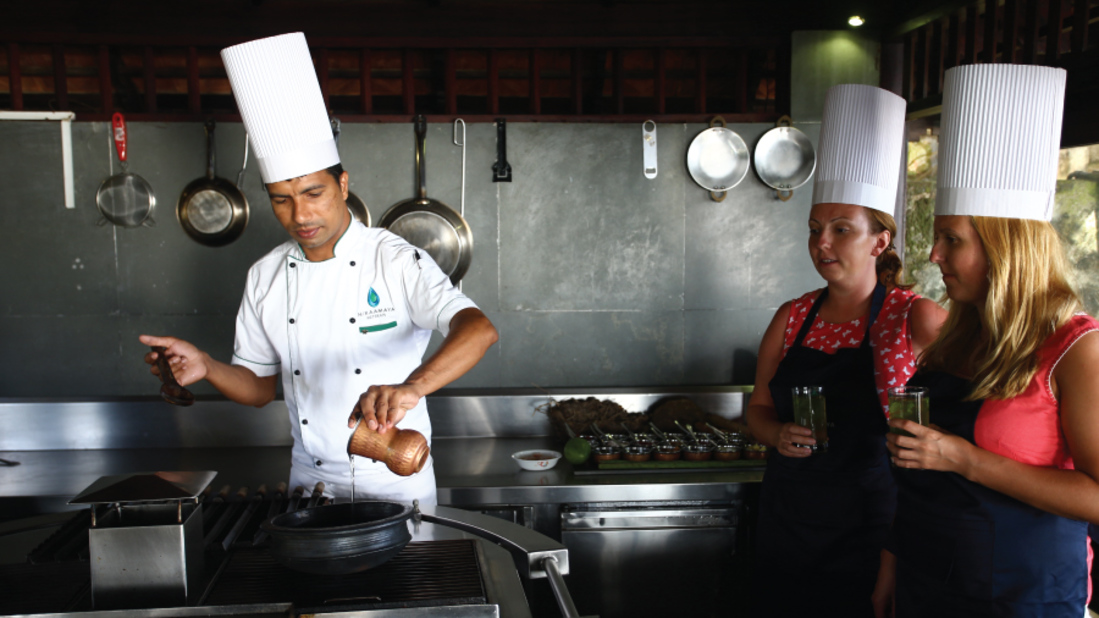 Cooking Class Niraamaya Retreats Surya Samudra Kovalam Resort