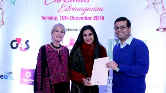 Ms. Sonavi Kaicker CEO Neemrana Hotels with Lady Asquith British High Commission at the BBG Christmas Extravaganza 2019