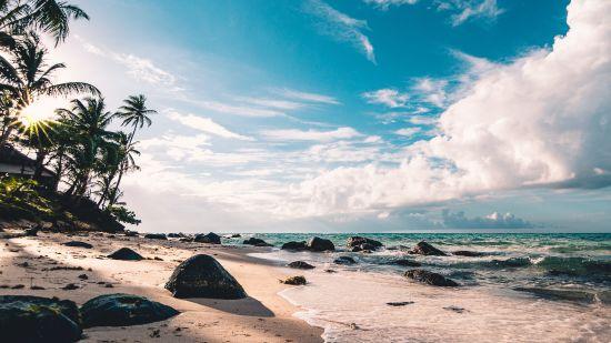 best beach in Neil Island,  Laxmanpur Beach