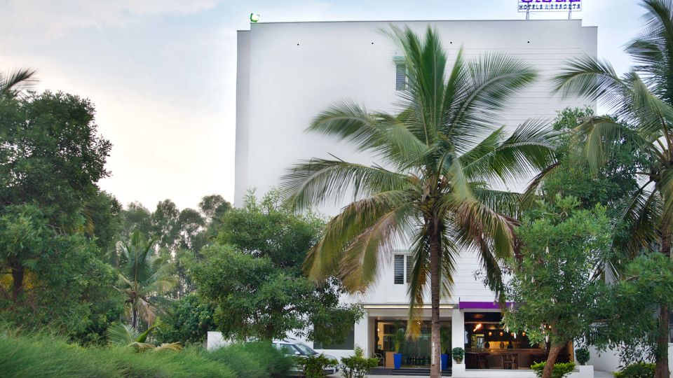Purple Cloud Hotel Best Bangalore Aiport Hotel Lobby and Facade 1